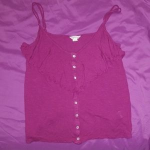 Aeropostale Button Down Tank Top